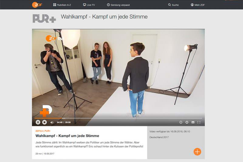 Screenshoot der Mediathek